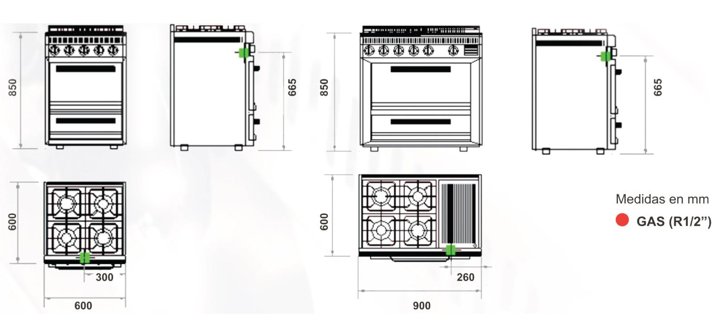 medidas de una cocina latest top esquema medidas cocina